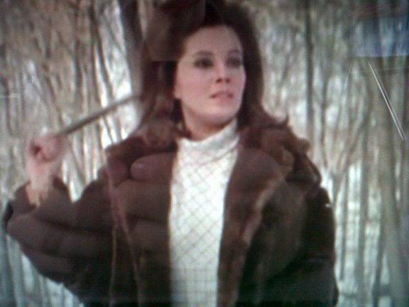 In the last scene, Welles decides to travel alone on her journey toward success. Doing so in a lush brown fur coat automatically validates this decision, no context necessary.