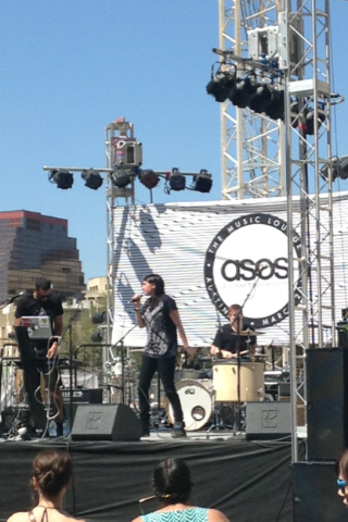 Here's a shot of one of the bands performing at the venue during ASOS's event.