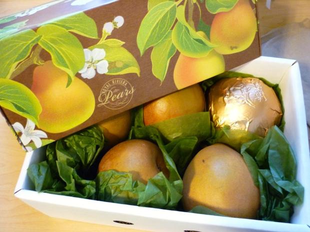 Harry & David's Royal Riviera pears! So juicy and delicious.