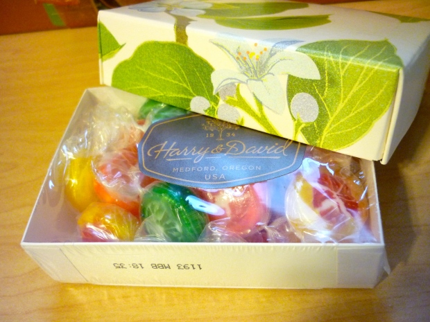 Citrus candies.
