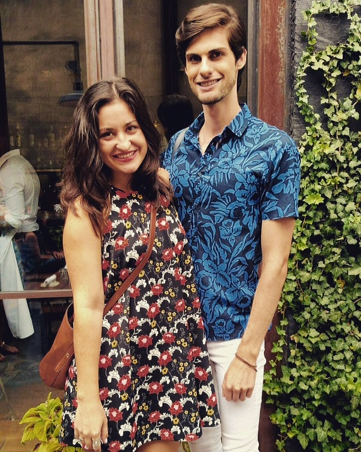 Donning florals for one of the last brunches of summer