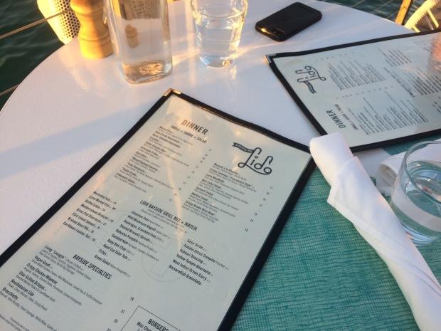 waterfront lido bayside grill menu